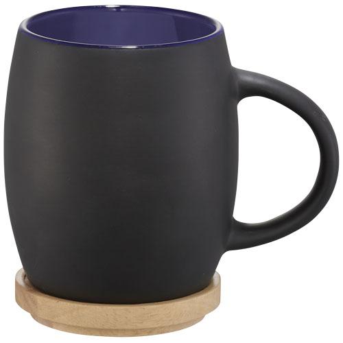 Ceramiczny kubek Hearth z drewnianym wiekiem/spodeczkiem (10046601)