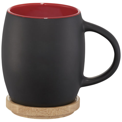 Ceramiczny kubek Hearth z drewnianym wiekiem/spodeczkiem (10046602)