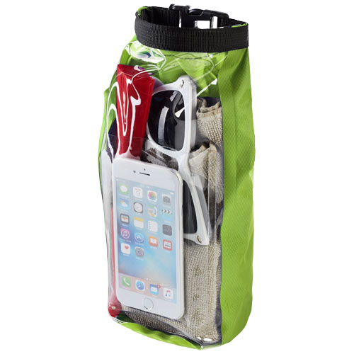 Tourist 2 litre waterproof bag with phone pouch