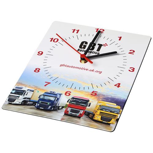 Prostokątny zegar ścienny Brite-Clock® (21053100)