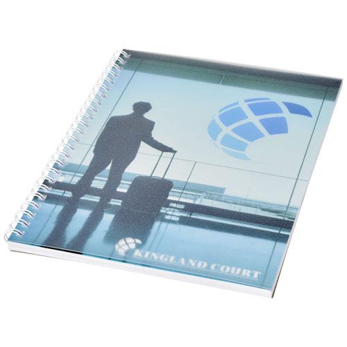 Notatnik Desk-Mate® w formacie A5 z przedziałką i okładką wykonaną z PP (21247002)