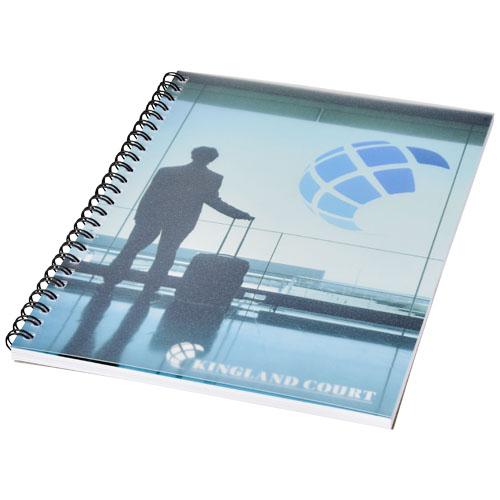 Notatnik Desk-Mate® w formacie A5 z przedziałką i okładką wykonaną z PP (21247012)
