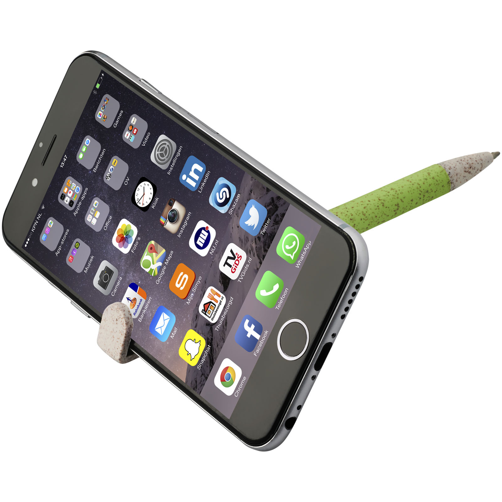Medan wheat straw ballpoint pen and phone holder