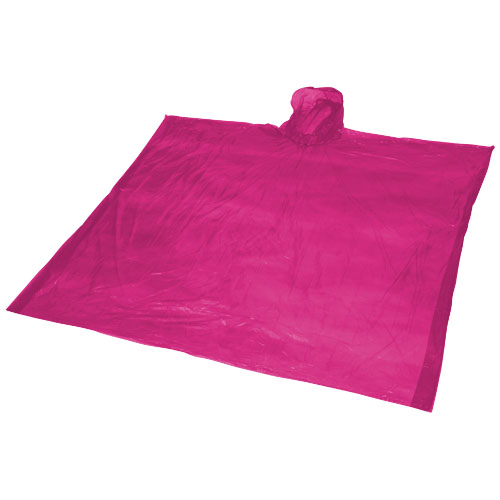 Ziva disposable rain poncho with storage pouch