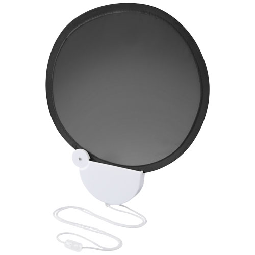 Breeze foldable hand fan with cord