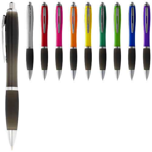Nash ballpoint pen coloured barrel and black grip