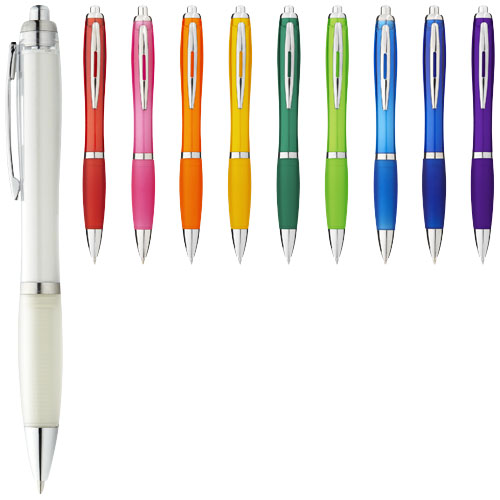 Nash ballpoint pen with coloured barrel and grip