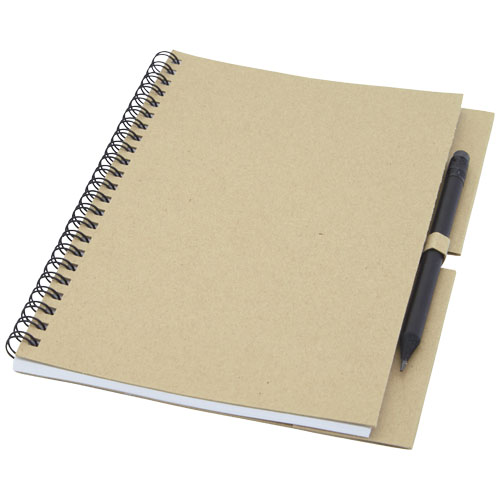 Luciano Eco wire notebook with pencil - medium