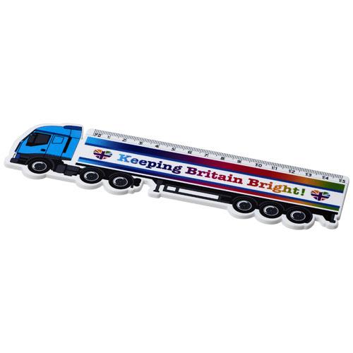 Loki 15 cm lorry-shaped plastic ruler