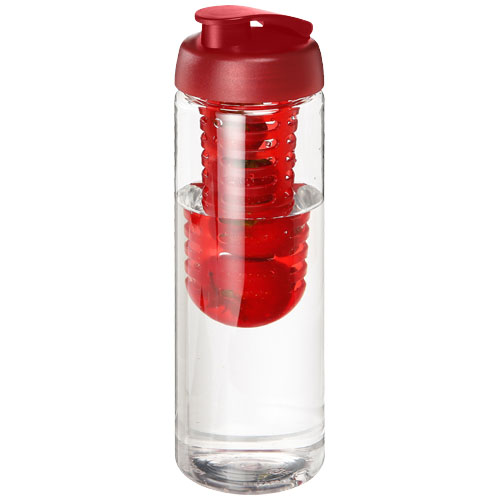 H2O Vibe 850 ml flip lid bottle & infuser