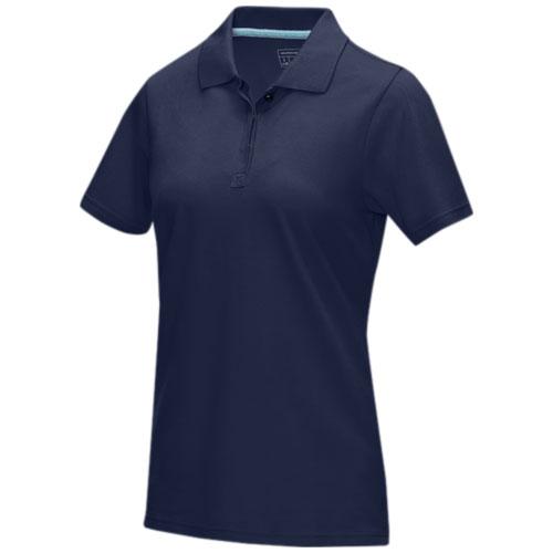 Graphite short sleeve women's GOTS organic polo