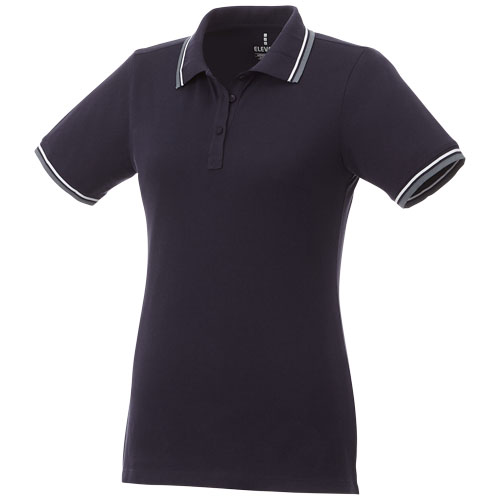 Fairfield short sleeve women's polo with tipping